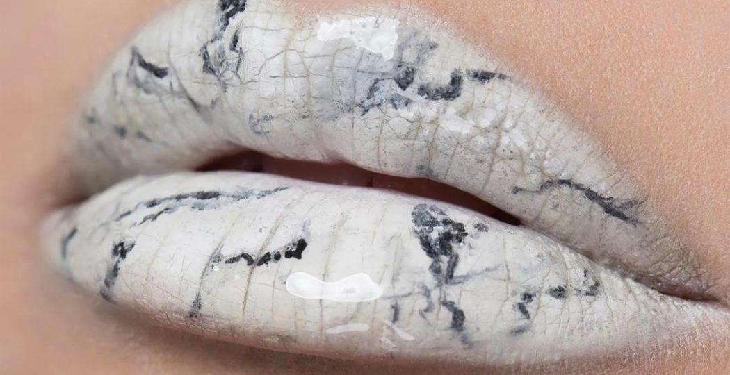 De Marmer Trend : Marmeren lippen zijn de nieuwste make up trend